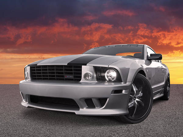 Wall Art - Photograph - Saleen Mustang Sunset by Gill Billington