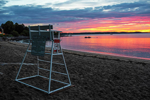 Photograph - Salem Ma Waikiki Beach Sunrise Lifeguard Chair by Toby McGuire
