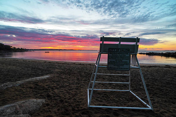 Photograph - Salem Ma Waikiki Beach Sunrise Wide Lifeguard Chair by Toby McGuire