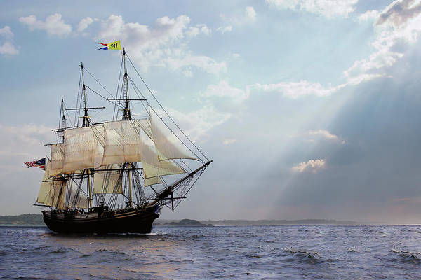 Photograph - Salem's Friendship Sails Home by Jeff Folger