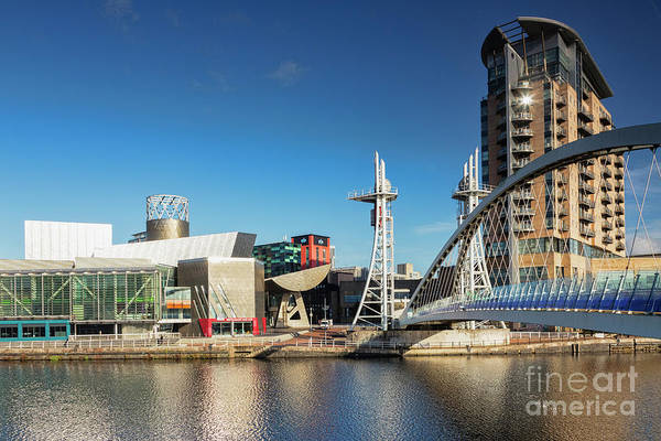 Lowry Photograph - Salford Quays Manchester Uk by Colin and Linda McKie