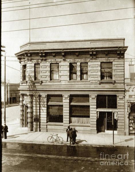 Photograph - Salinas City Bank In The Glikbarg Building At Main And Gabilan S by California Views Archives Mr Pat Hathaway Archives