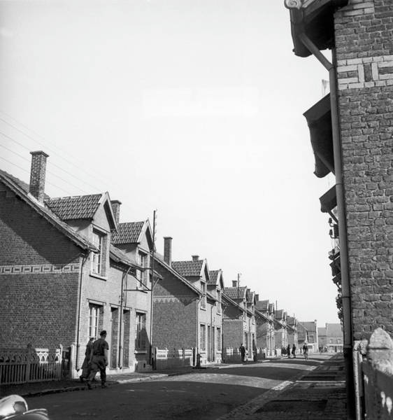 Miners Photograph - Sallaumines Miners Terraced Houses In by Keystone-france