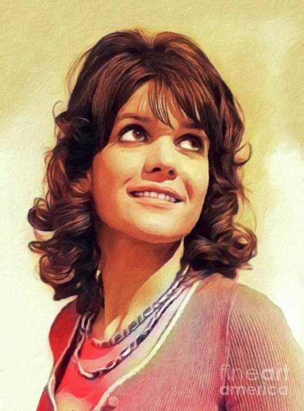 Wall Art - Painting - Sally Geeson, Actress by John Springfield