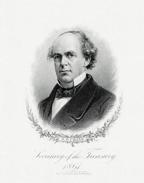 Wall Art - Painting - Salmon P. Chase by The Bureau of Engraving and Printing
