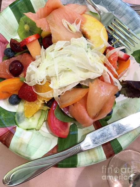 Photograph - Salmon Salad by Flavia Westerwelle