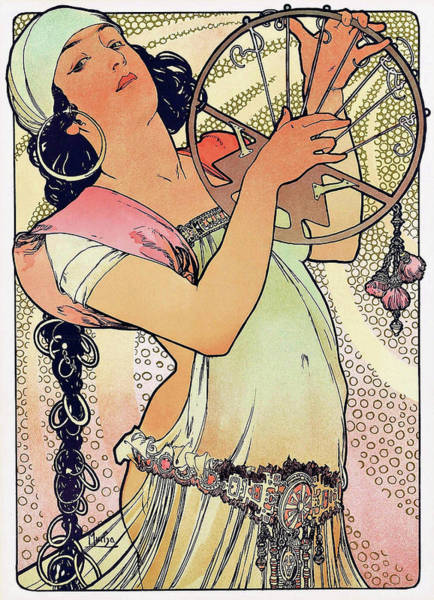 Mucha Painting - Salome - Digital Remastered Edition by Alfons Maria Mucha