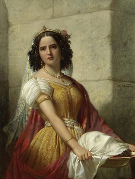 Wall Art - Painting - Salome With The Head Of John The Baptist, 1861 by Jan Adam Kruseman