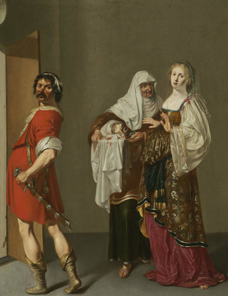 Painting - Salome With The Head Of Saint John The Baptist by Jacob Duck