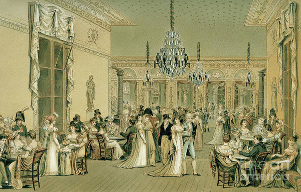 Wall Art - Drawing - Salon At Cafe Frascati, Paris  by Philibert-Louis Debucourt