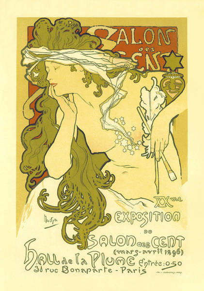 Painting - Salon De Cents De La Plume  by Vintage French Advertising