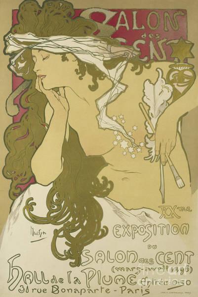 Wall Art - Painting - Salon Des Cent, Xxme Exposition Du Salon Des Cent by Alphonse Marie Mucha