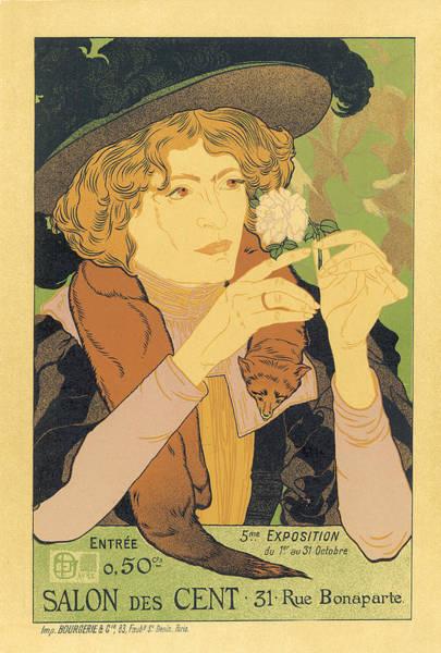 Painting - Salon Des Cents 31 Rue Bonaparte Vintage French Advertising by Vintage French Advertising