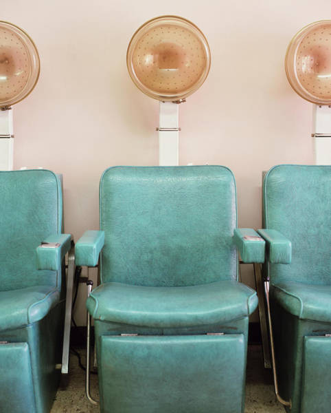 Wall Art - Photograph - Salon Hair Dryers by Lisa Romerein