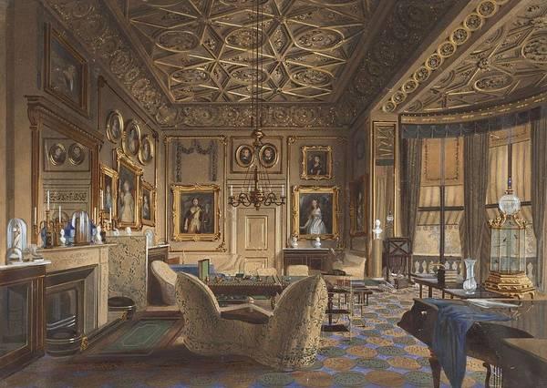 Wall Art - Painting - Salon Particulier De La Reine Au Palais De Buckingham   T  by James Roberts
