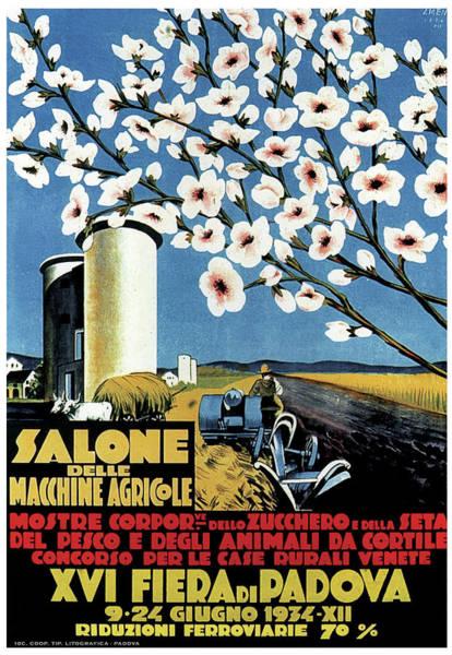 Bauhaus Mixed Media - Salone Delle Macchine Agricole - Padova, Padua, Italy - Retro Travel Poster - Vintage Poster by Studio Grafiikka
