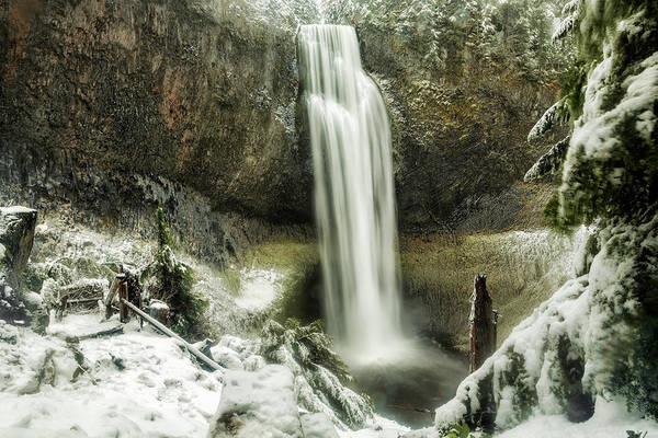 Photograph - Salt Creek Falls On A Winter's Day by Belinda Greb