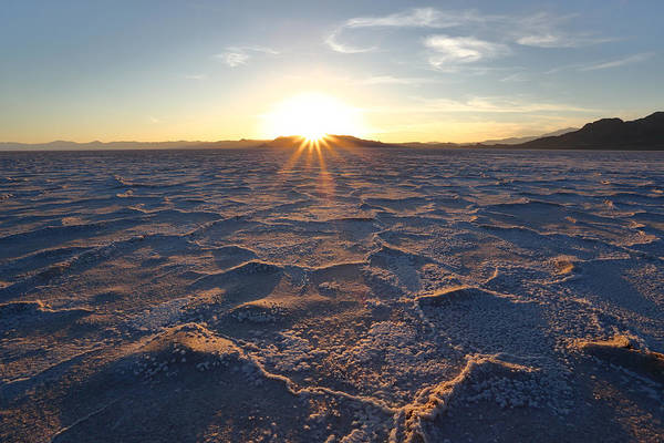 Photograph - Salt Flat Setting Sun by David Andersen