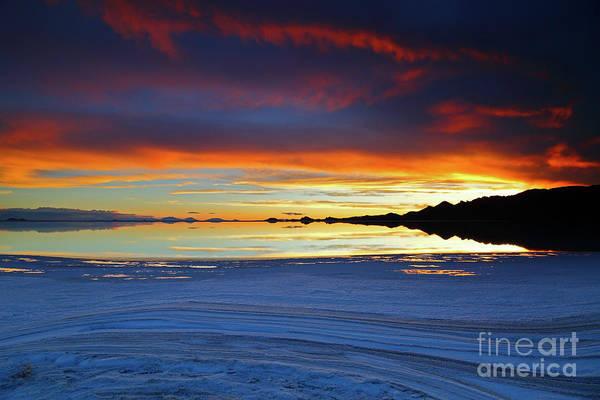 Photograph - Salt Formations At Sunset Salar De Uyuni Bolivia by James Brunker