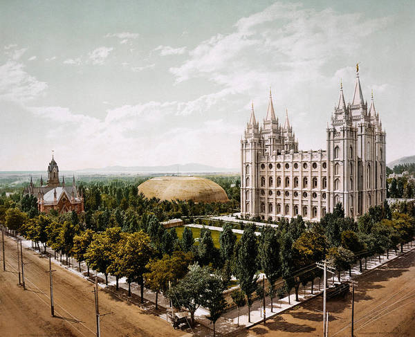 Photograph - Salt Lake City 1899 by Andrew Fare