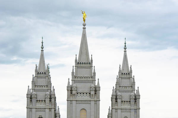 Church Photograph - Salt Lake City Temple by Meshaphoto