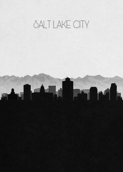Capitol Digital Art - Salt Lake Cityscape Art by Inspirowl Design