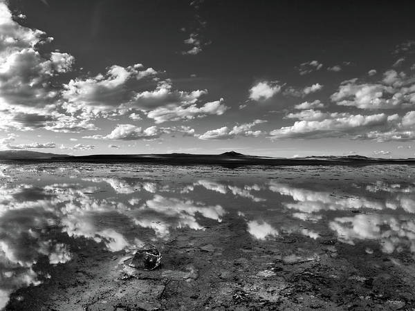 Photograph - Salt Lake Reflections Black And White by Leland D Howard