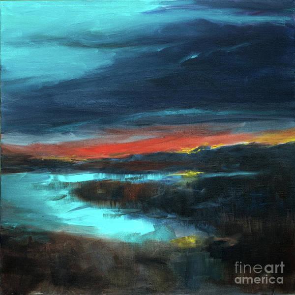 Painting - Salt Marsh Sunset by Linda Olsen