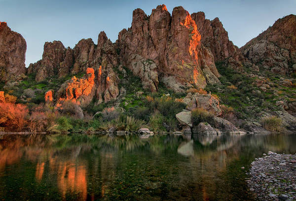 Photograph - Salt River Cliff Reflections by Dave Dilli