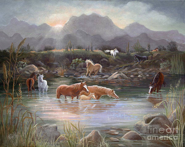 Painting - Salt River Sunrise by Marilyn Smith