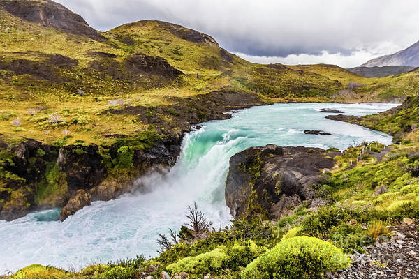 Photograph - Salto Grande, Torres Del Paine, Chile by Lyl Dil Creations