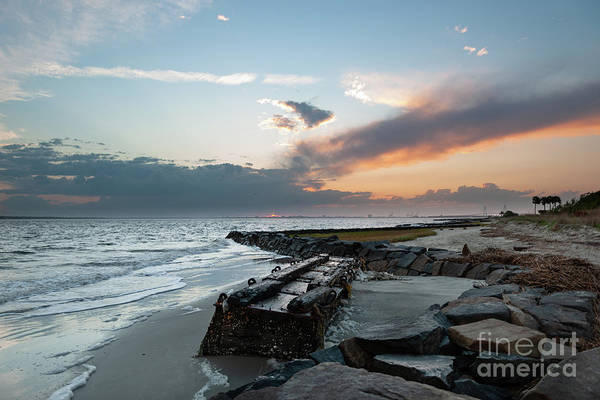 Photograph - Salty Shores - Sullivan's Island by Dale Powell