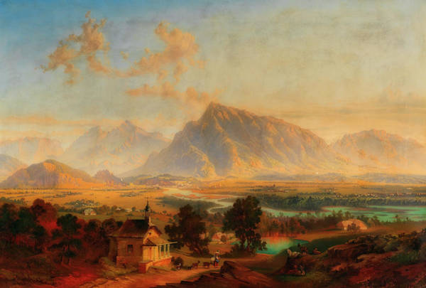 Wall Art - Painting - Saltzburg With The Untersberg In The Distance by Emil Theodor Richter