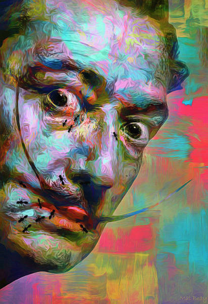 Ant Mixed Media - Salvador Dali by Mal Bray
