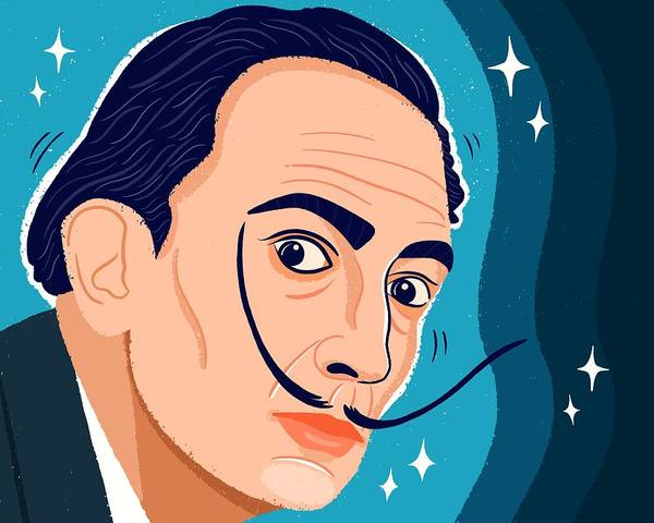 Dali Digital Art - Salvador Dali by Nicole Wilson