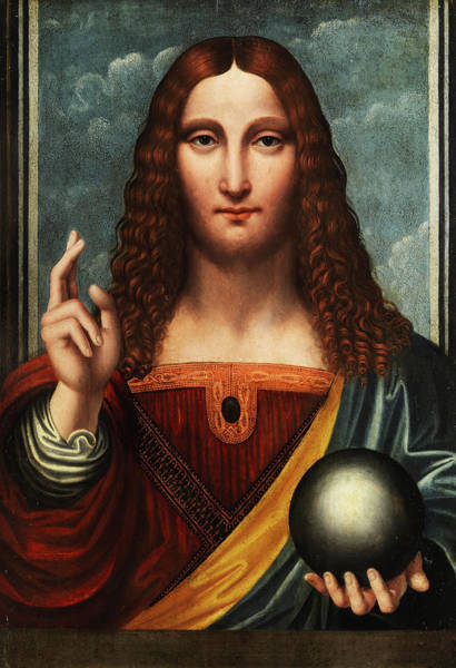 Renaissance Painters Wall Art - Painting - Salvator Mundi by Italian painter
