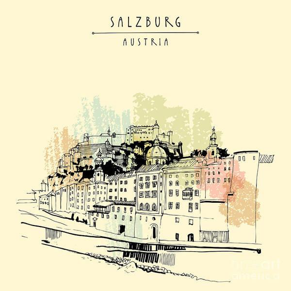 Salzburg, Salzburger Land, Austria Art Print