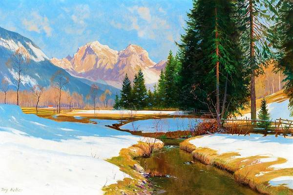 Wall Art - Painting - Salzburger Alps-view Of The Hoher Goll - Digital Remastered Edition by Toni Haller