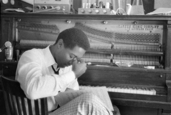Horizontal Photograph - Sam Cooke At The Piano by Michael Ochs Archives