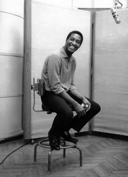 Photograph - Sam Cooke In The Studio by Michael Ochs Archives