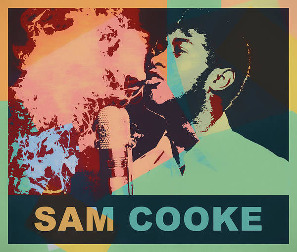 Wall Art - Painting - Sam Cooke Pop Art by Dan Sproul