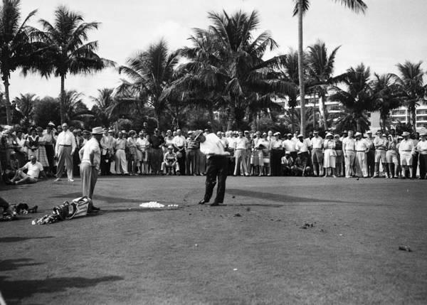 Palm Beach Photograph - Sam Snead At The Palm Beach Golf Club by Bert Morgan
