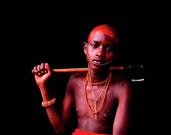 Indigenous People Photograph - Samburu Initiate With Scars by Harry Hook