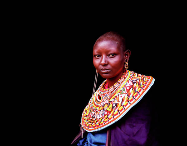 Indigenous People Photograph - Samburu Woman With Traditional Necklace by Harry Hook