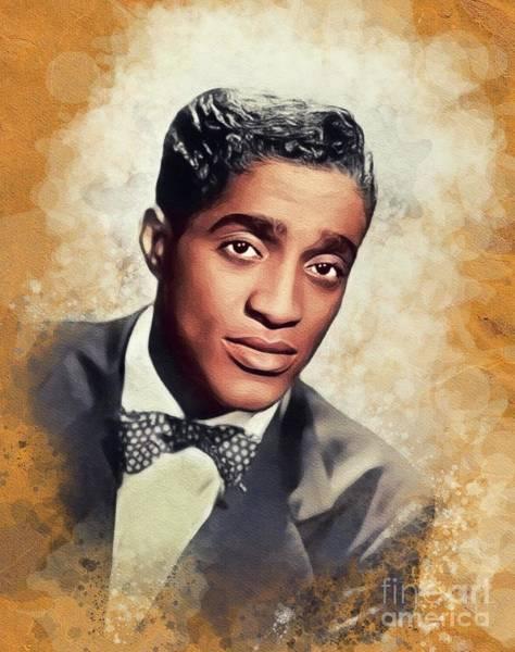 Wall Art - Painting - Sammy Davis Jr, Music Legend by John Springfield