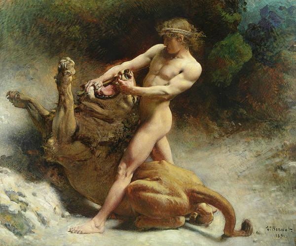 Dominate Painting - Samson's Youth, 1891 by Leon Joseph Florentin Bonnat