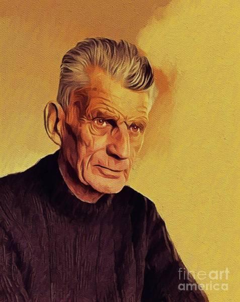 Wall Art - Painting - Samuel Beckett, Literary Legend by John Springfield
