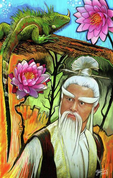 Painting - Samurai Flower Driver by Yom Tov Blumenthal