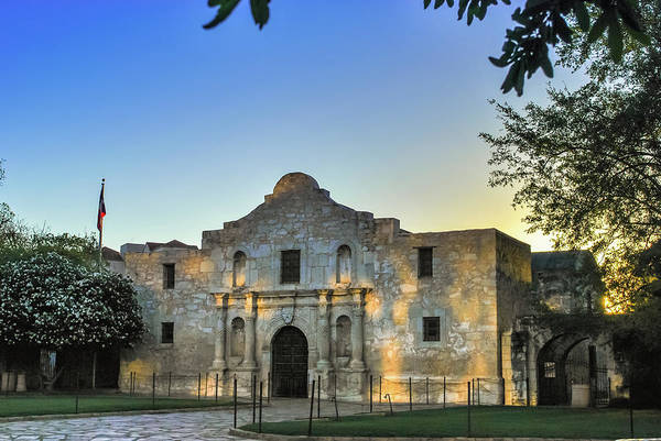 Photograph - San Antonio Alamo Sunrise Morning by Gregory Ballos