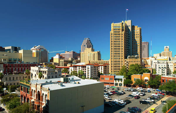 Parking Structure Photograph - San Antonio Downtown View by Davel5957